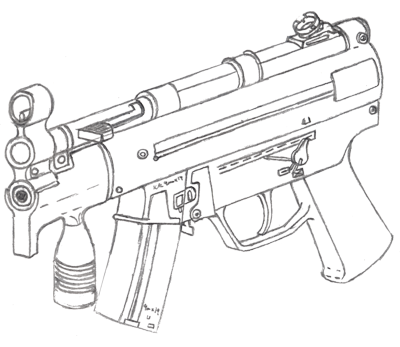 400x347 Mp5k Drawing By Fewes