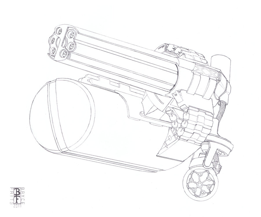 900x750 Double Fire Gatling Gun By Deomonte21