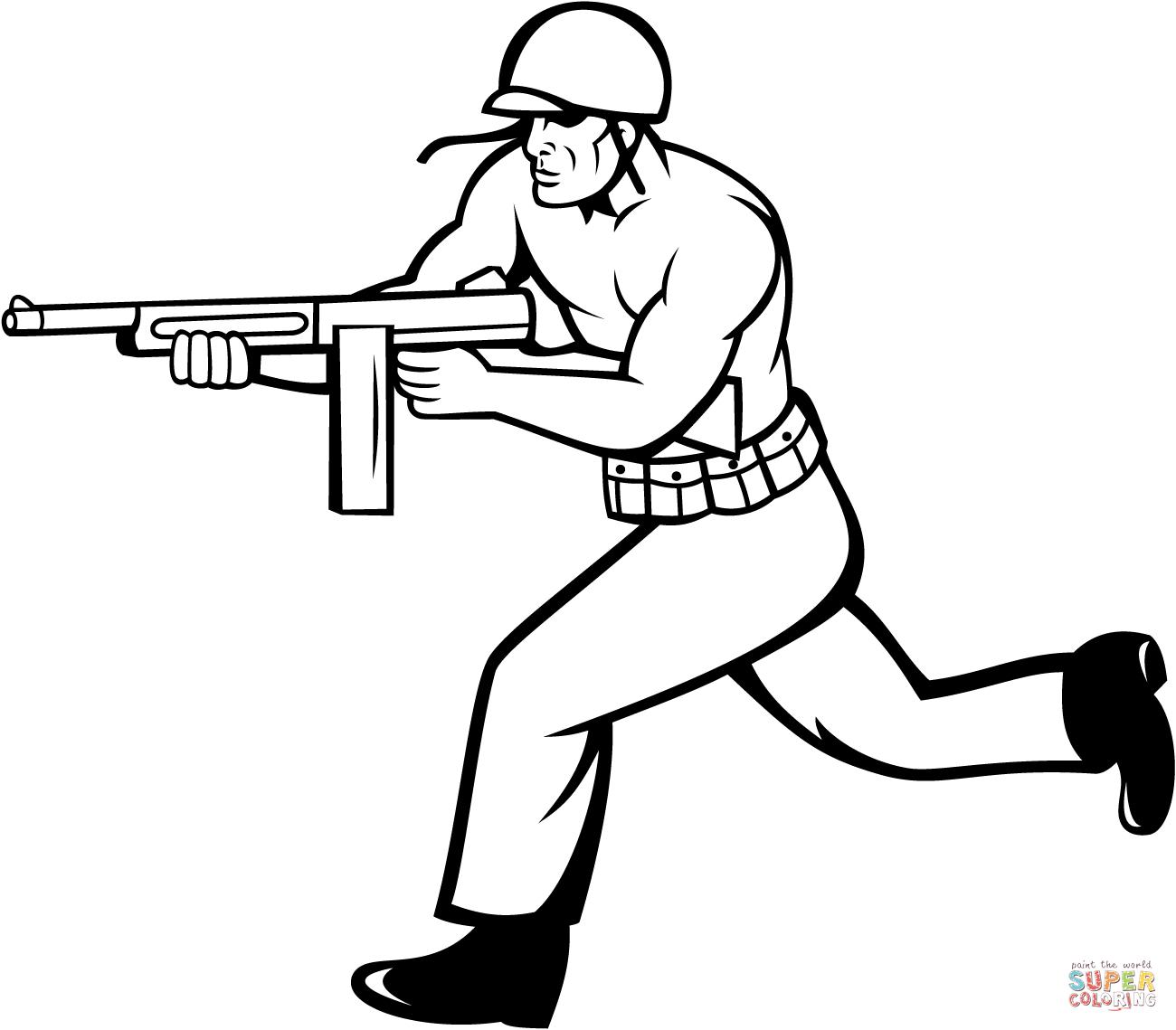 1300x1139 Cartoon Soldier Drawing Drawn Soldier Gun Cartoon