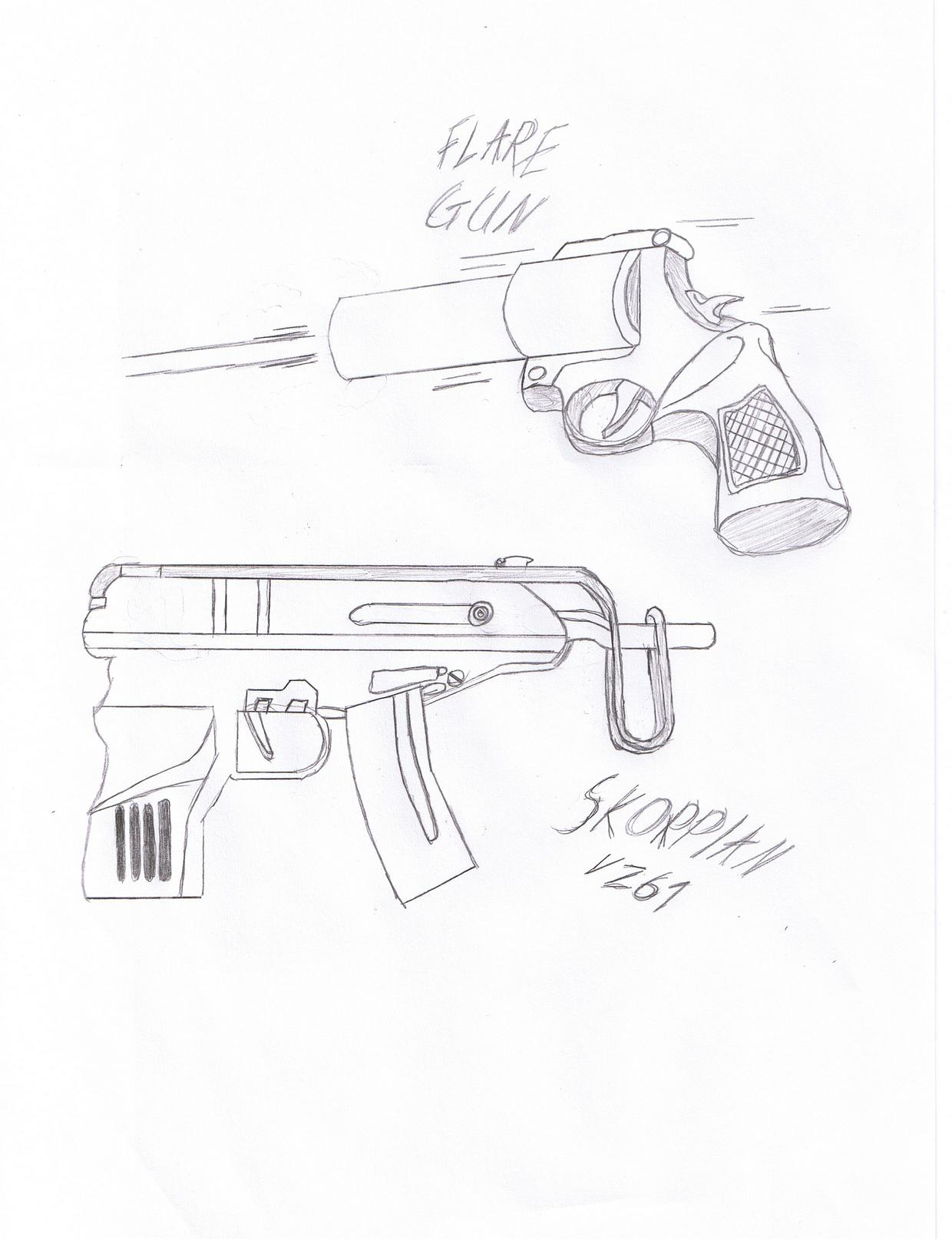 1240x1615 Flare Gun + Skorpian Sketch by sniperz42 on DeviantArt