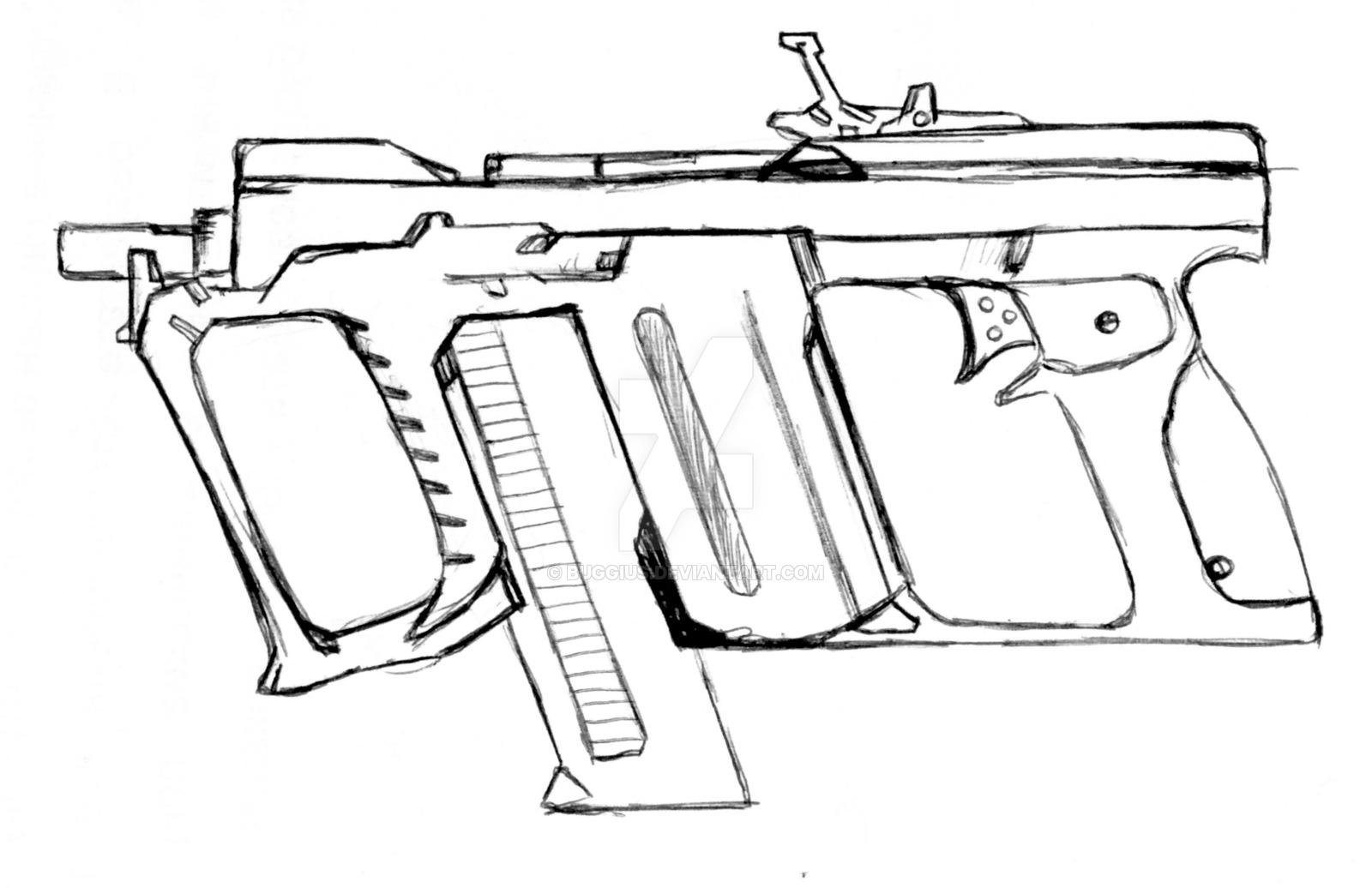 1600x1036 Futuristic Submachine Gun KR 1SS5 by BUGGIUS on DeviantArt