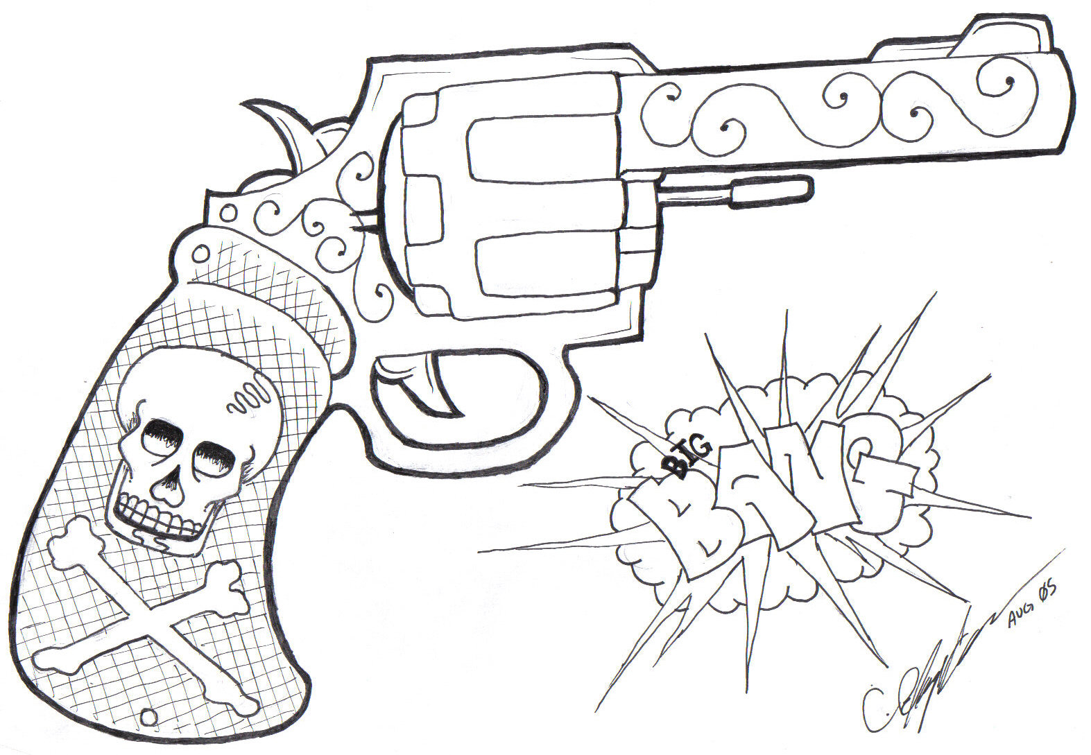 1573x1089 Gun by loneuglyfish on DeviantArt