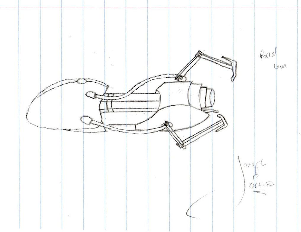 1017x786 Portal Gun Sketch by TheAmoryWarsSoldier9 on DeviantArt