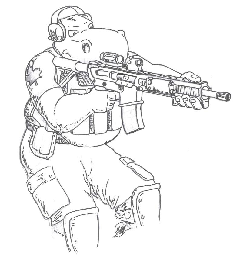 Gun In Hand Drawing