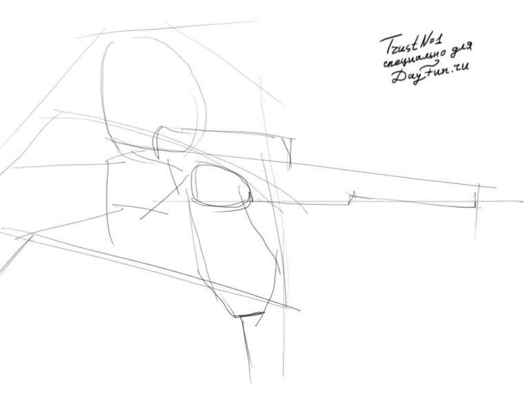 768x576 How To Draw A Shooter Step By Step