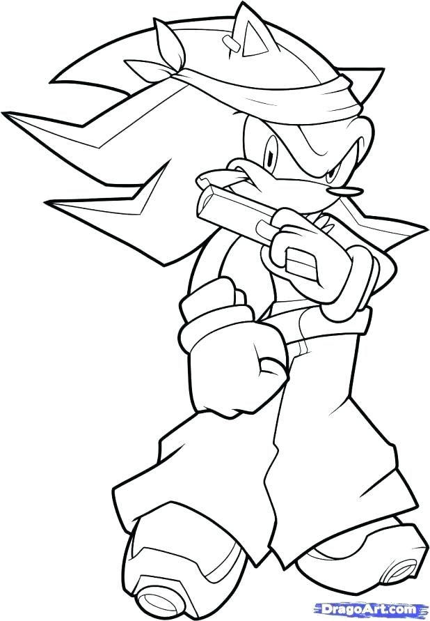 618x891 Awesome Knuckles Coloring Pages Best Of Shadow The Hedgehog