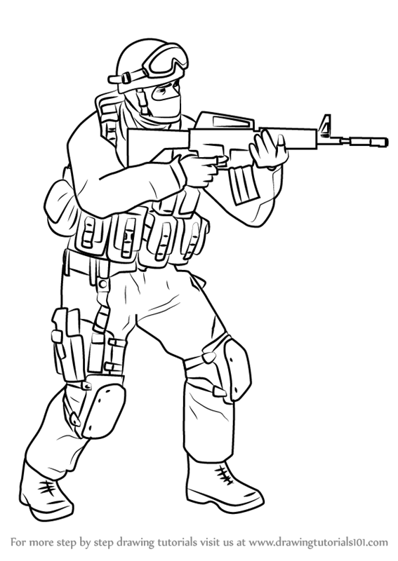567x800 Learn How To Draw Counter Terrorist From Counter Strike (Counter