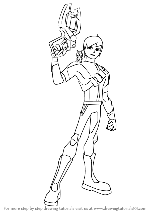 598x844 Learn How To Draw Eli Shane From Slugterra (Slugterra) Step By