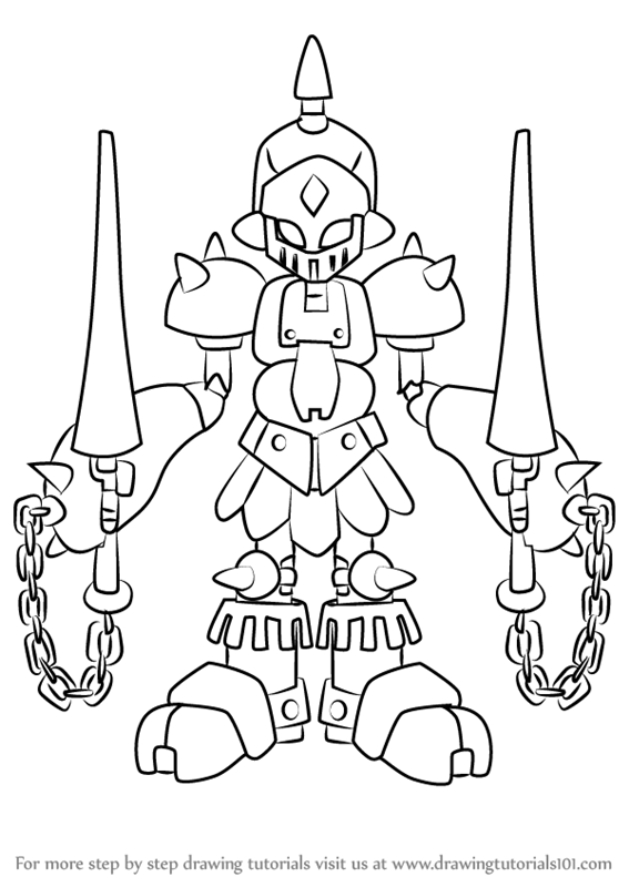 567x800 Learn How To Draw Gun King From Medabots (Medabots) Step By Step