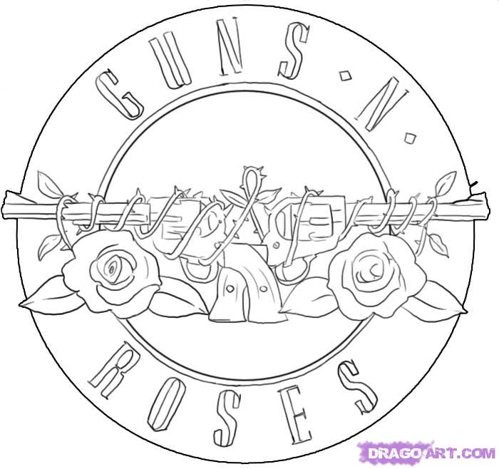 700x658 How To Draw Guns N Roses Symbol Step 9 Dibujos
