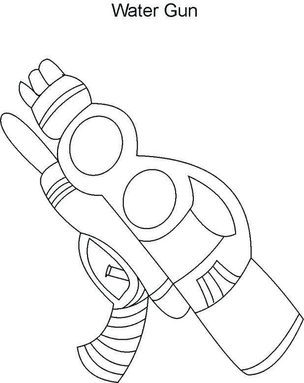 618x778 Nerf Gun Coloring Pages