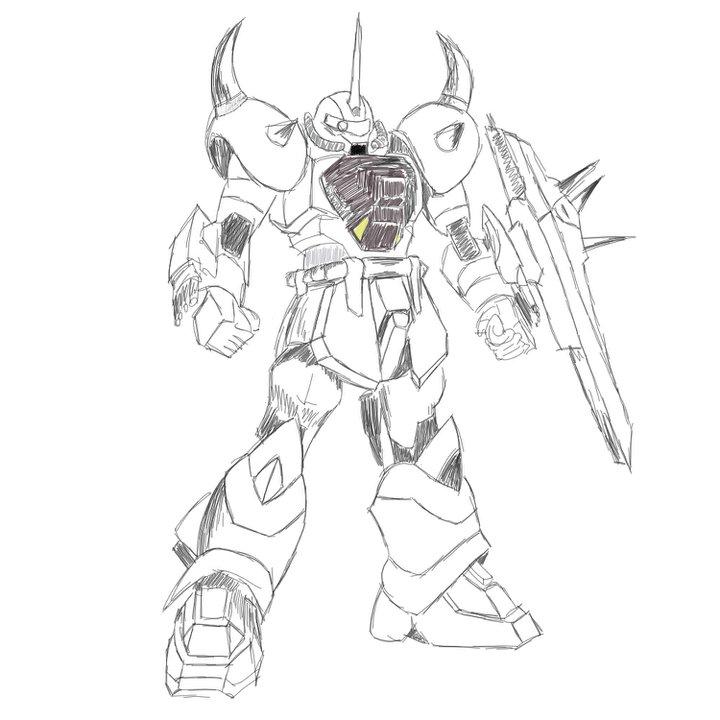 720x720 Gundam Drawing By Nouv Arts