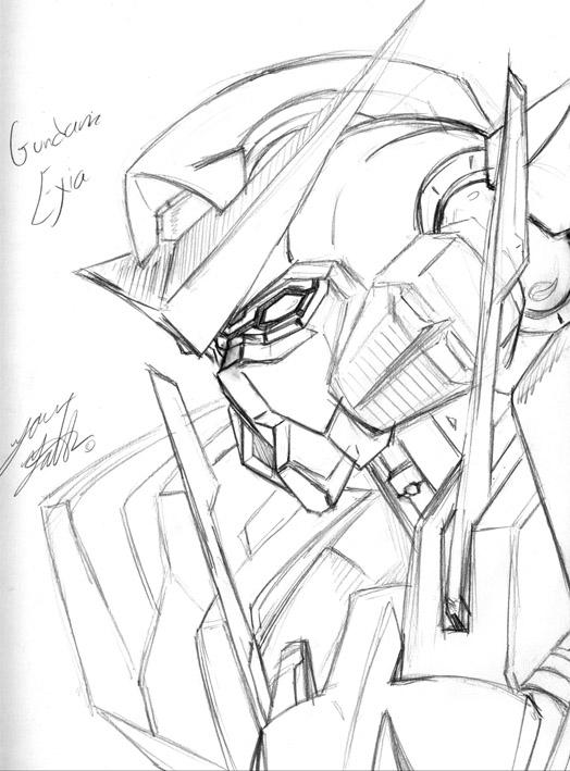 524x709 Gundam Exia By Shadowkreeper