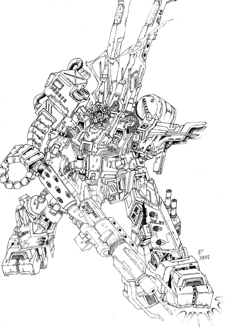 900x1303 Gundam Megao By Weresandrock