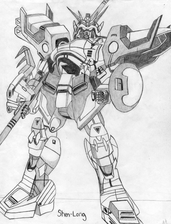 900x1179 Gundam Wing Shenlong By Demiscus