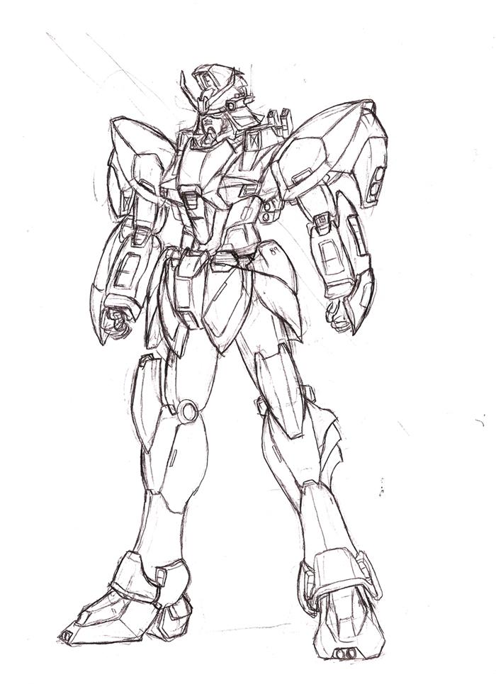 700x986 Gundam Redesign Sketch By Jonny5lee2