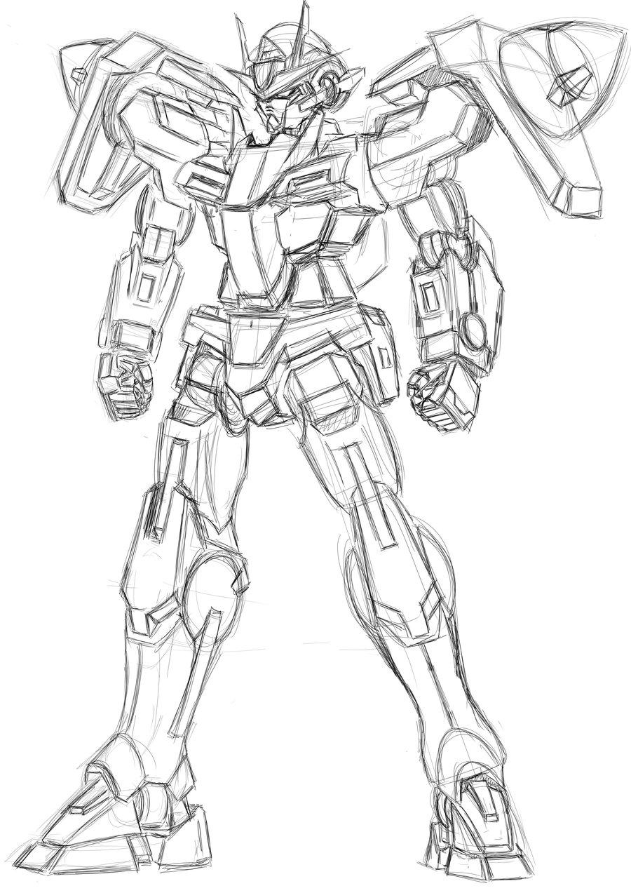 900x1273 00 Gundam Sketch By Twilight Hikari