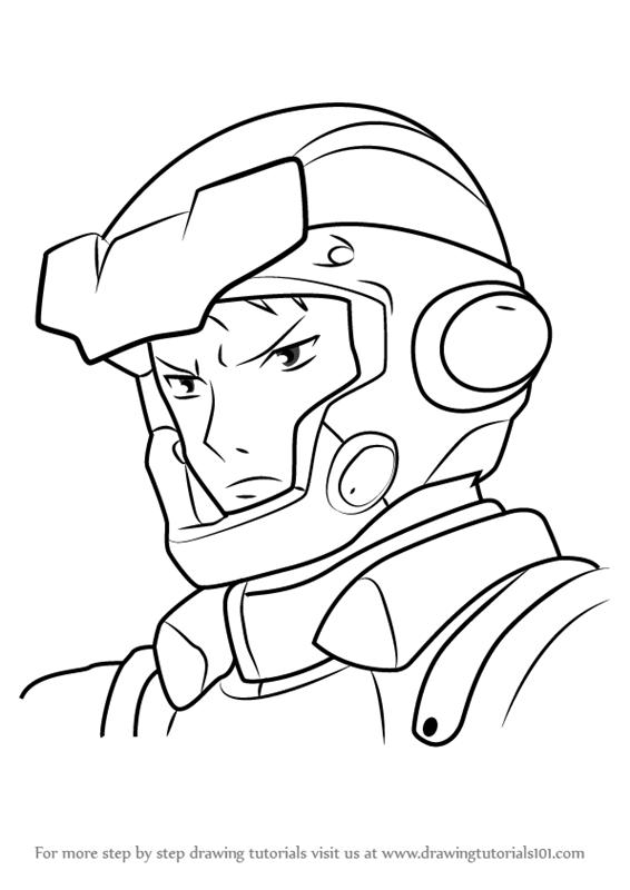 566x800 Learn How To Draw Akira Takei From Gundam (Gundam) Step By Step