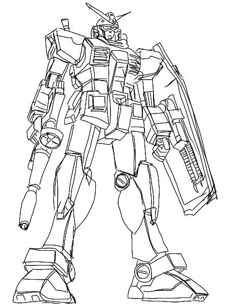 448x600 Line Drawing Of Gundam Rx 78 02 Hobby ~ Lines Gundam