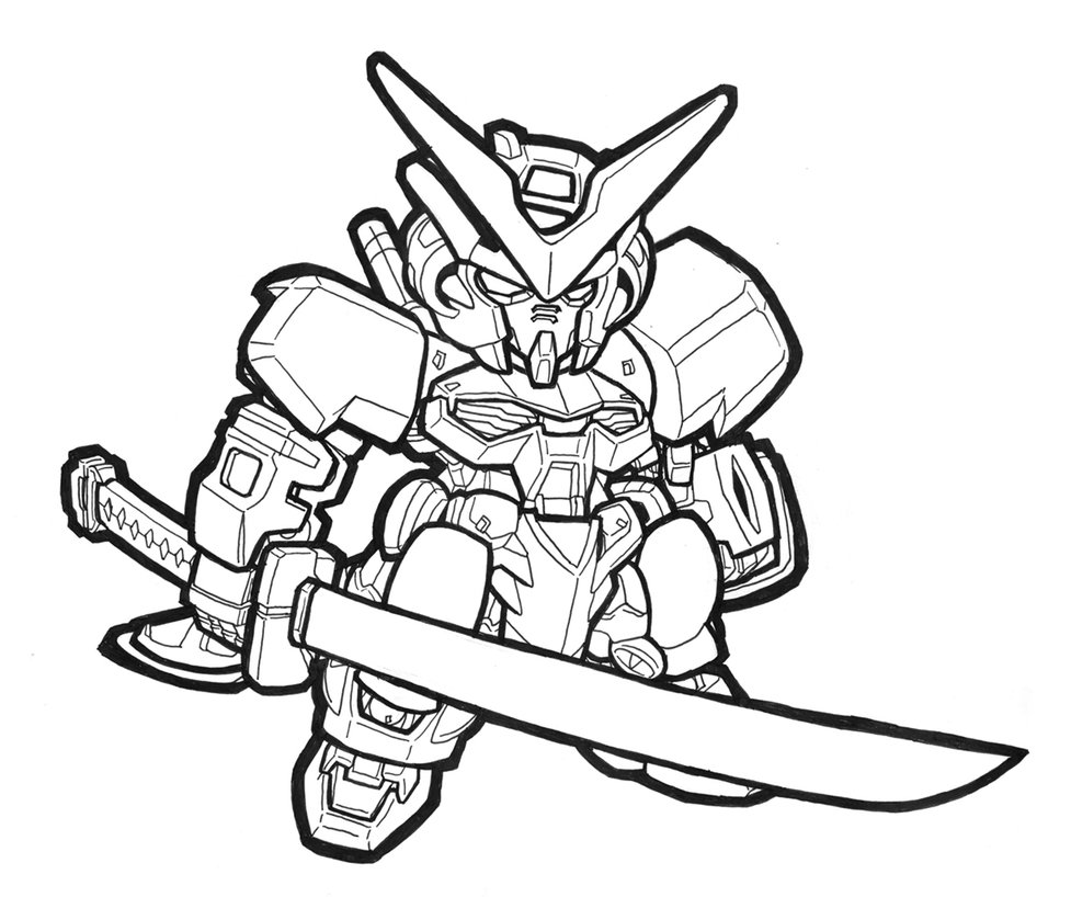 977x818 Sd Astray Red Frame Lineart By Mobilesuitgio
