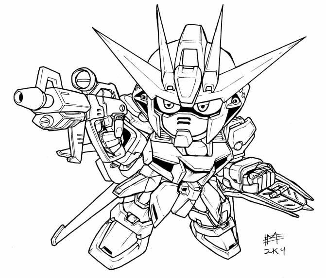 671x573 Sd Gundam Coloring Pages Gd Gundam, Sd And Chibi