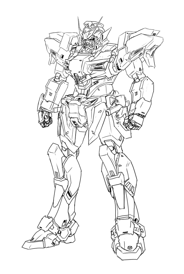 640x950 1st Time Drawing A Gundam By Oxoxoxo