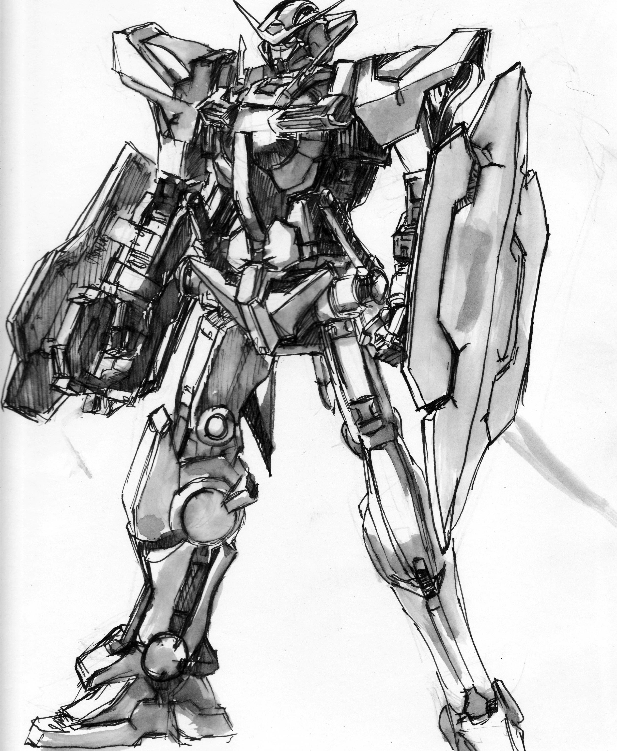 2508x3056 Some Gundam Sketches Jonathan Lareva Art