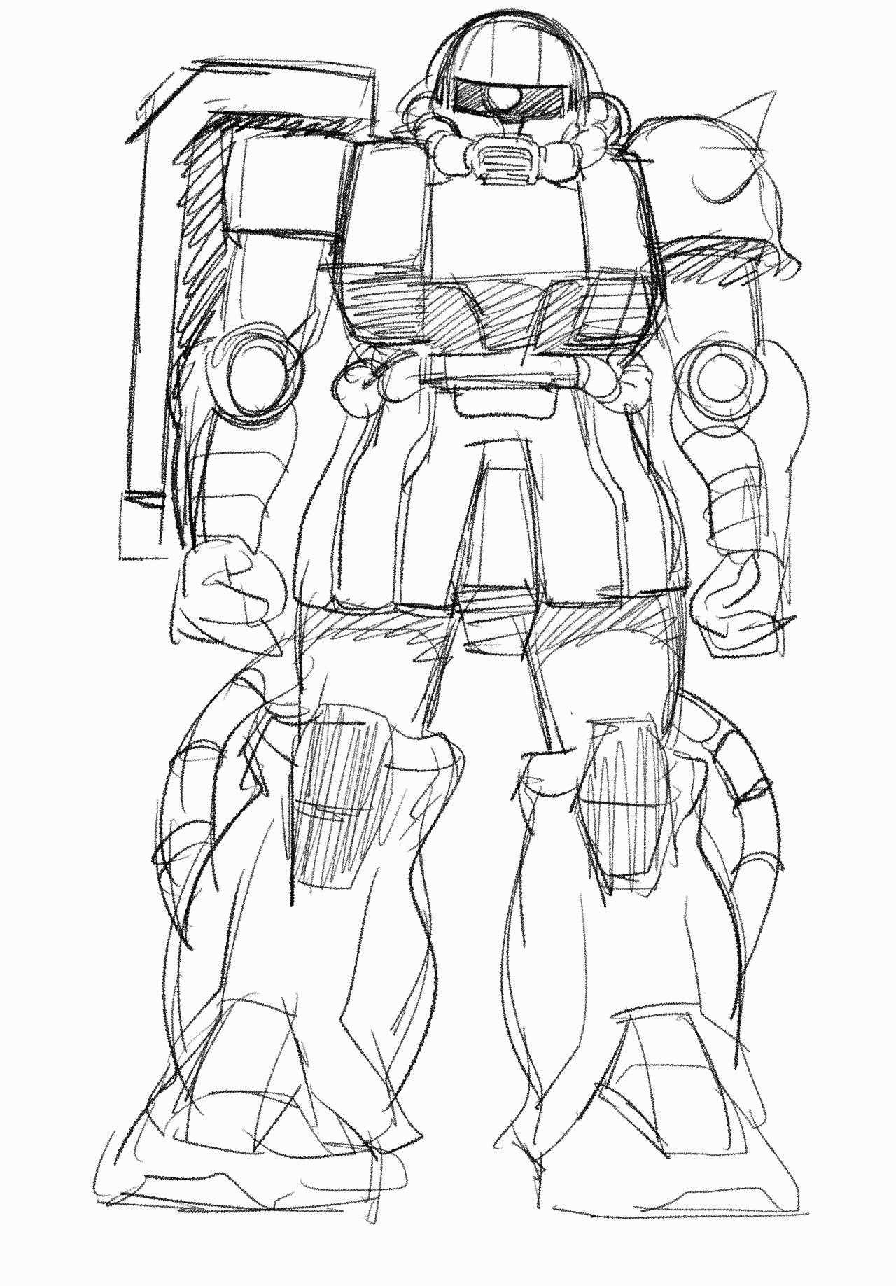 1280x1837 The Liefeldian Abomination. Rx 78 2 Gundam Symmetry Pen Drawing