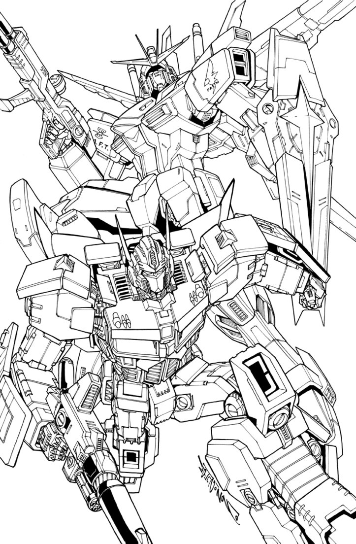 723x1104 Gundam And Prime Commission By Markerguru