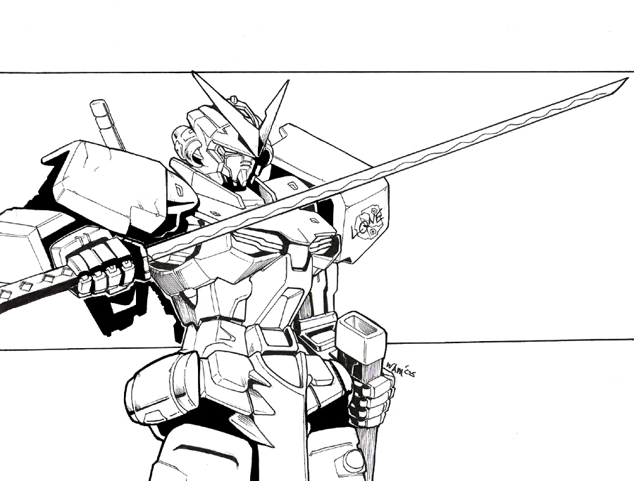 900x684 Gundam Astray By Beamer