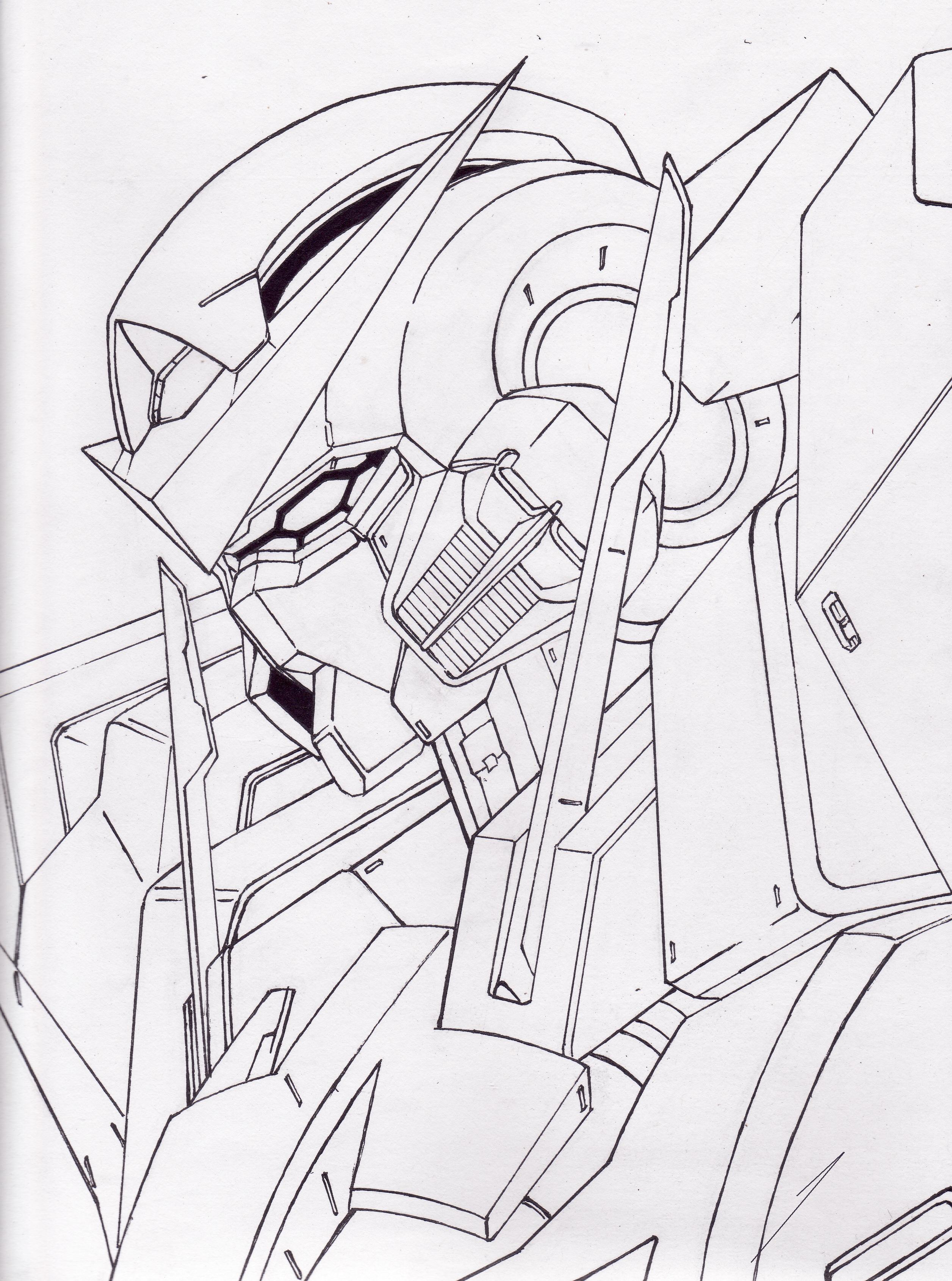 2512x3380 My First Gundam Exia By Mikol00