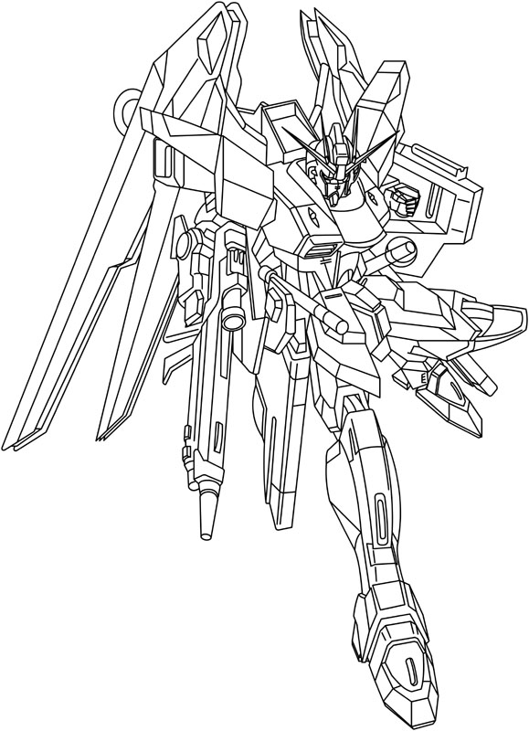 579x800 Freedom Gundam Lineart By Mofomegax