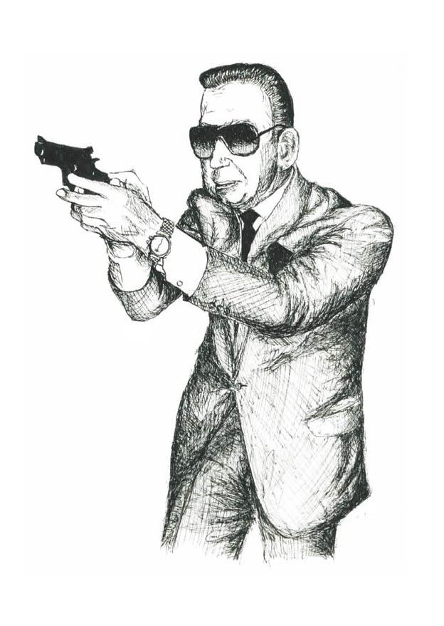 624x879 Old Man With Gun