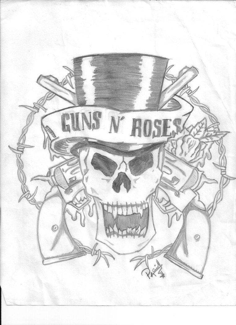 762x1048 Guns N' Roses Logo By Chrysriddle