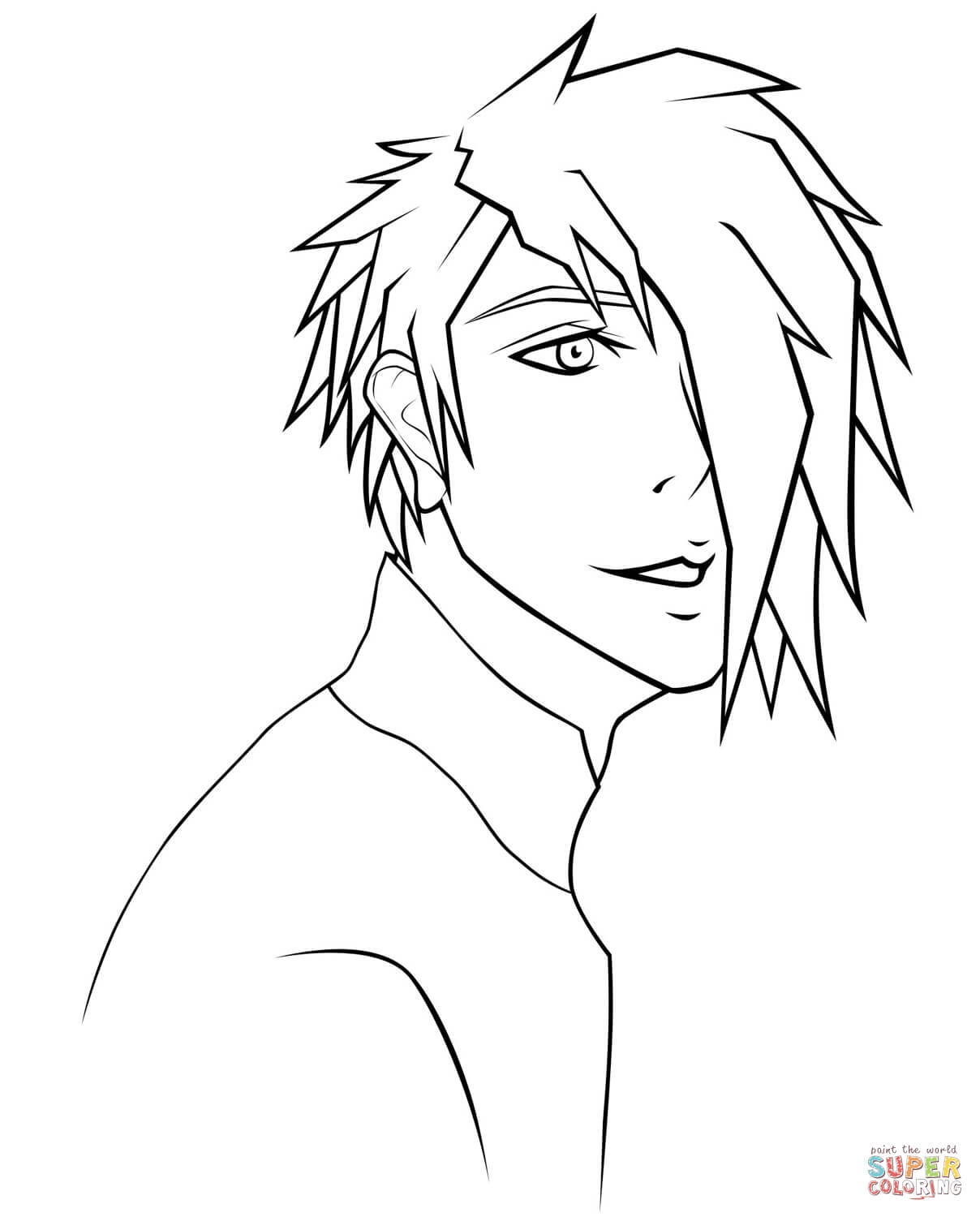 1208x1500 Anime Japanese Boy Coloring Page Free Printable Coloring Pages