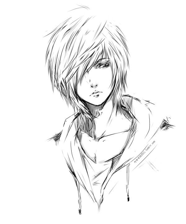 600x720 Pictures Sketches Of Anime Boys,