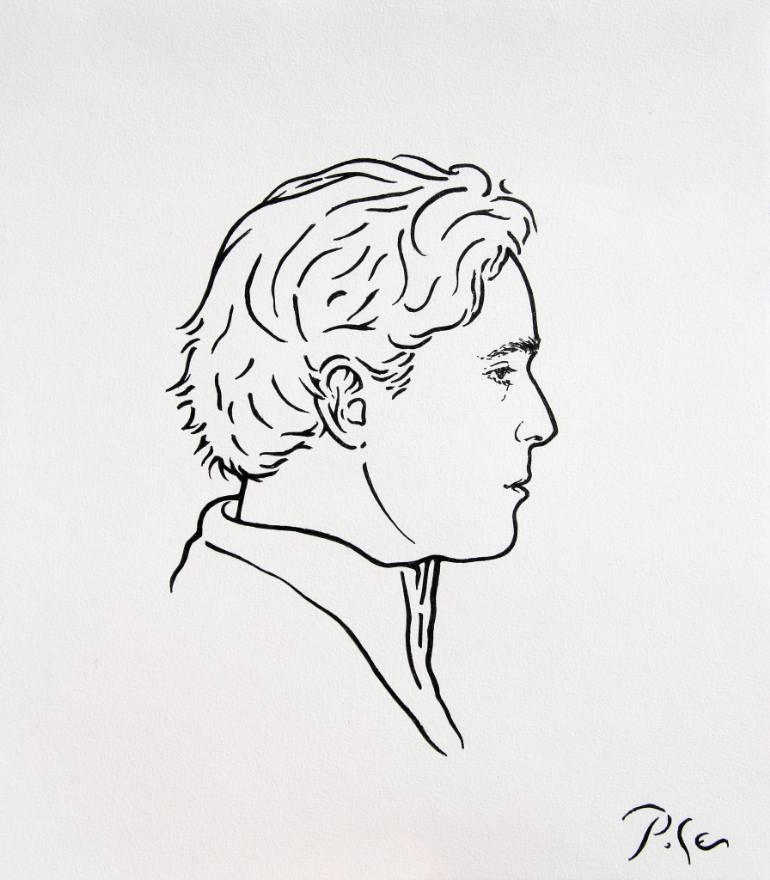 770x880 Saatchi Art Melancholic Guy Drawing By Igor Pose
