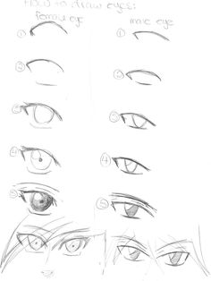 236x314 How To Draw Manga Eyes By Kaiyaotaku1 On Drawing