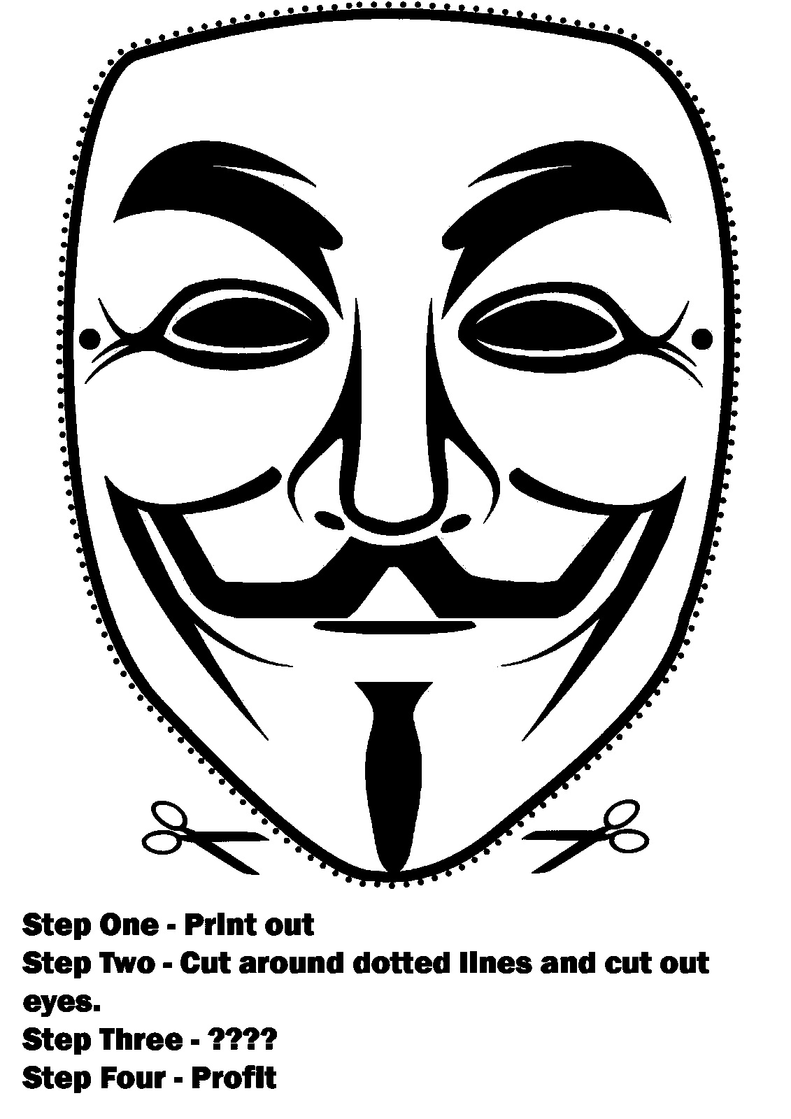 1131x1600 Anonymous Mask Drawing Draw The Guy Fawkes Mask