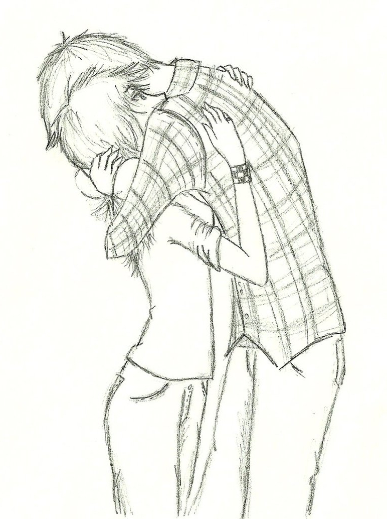 772x1034 Anime Girl And Boy Kiss Drawing Anime Sketch Boy And Girl Anime