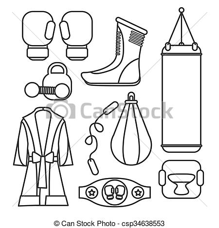 450x470 Boxing Vector Design Elements. Fighting And Boxing Stock