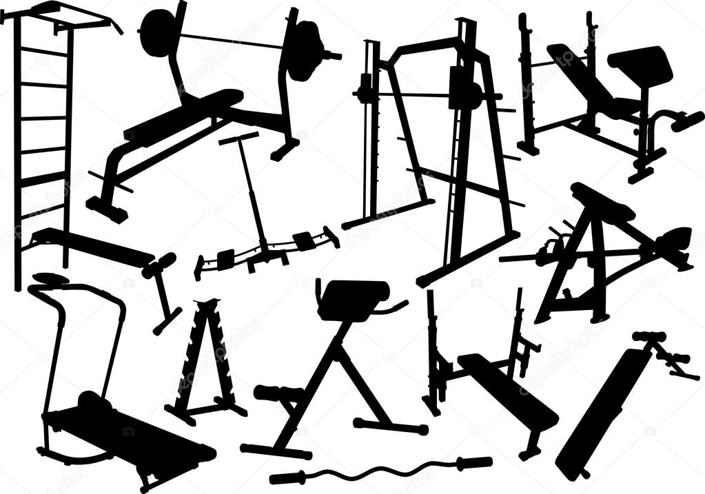 Gym Equipment Drawing At Getdrawings Com