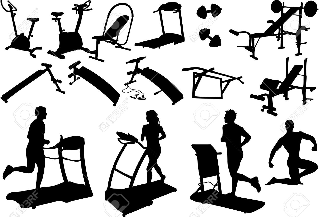 1300x885 Gym Equipment Gym Equipment, Made In The Image Vectors Gym
