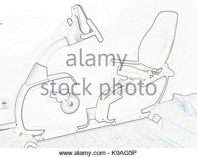 400x320 Drawing Stationary Bicycle Machine Gym Sport Stock Vector Art
