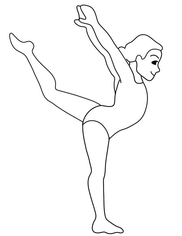 600x776 gymnastic woman gymnastic coloring page gymnastics party