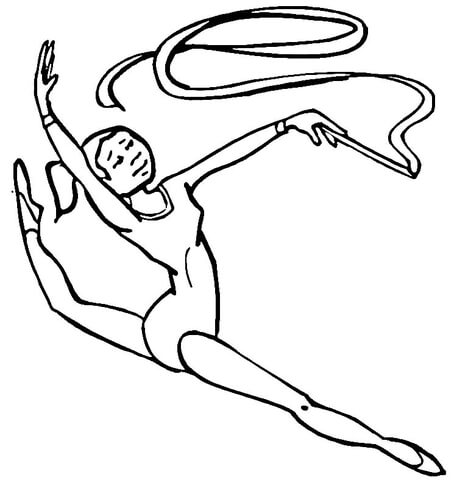 457x480 Gymnastics Coloring Page Free Printable Coloring Pages