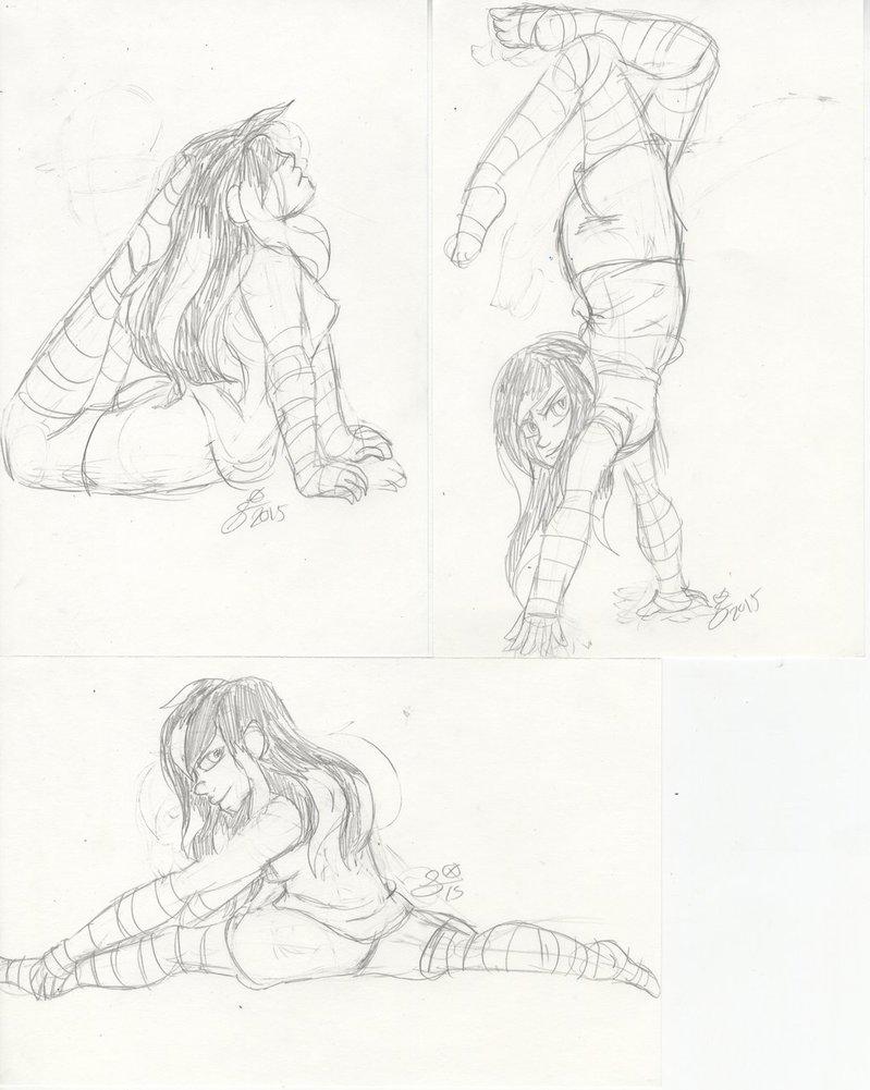 799x1001 Pose Practice Ravon Gymnastic Poses Set 1 By Invaderika