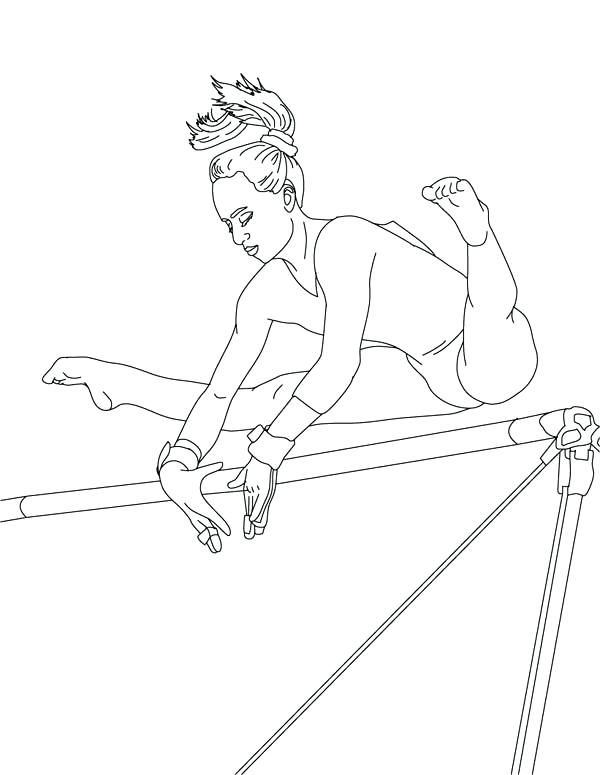 600x775 Printable Gymnastics Coloring Pages
