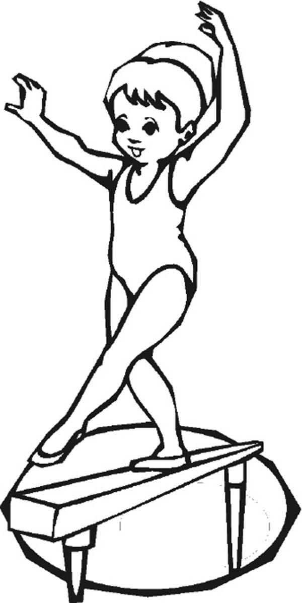 Gymnastics Drawing at GetDrawings