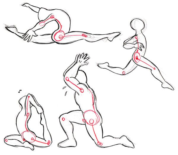 Gymnastics Drawing Easy